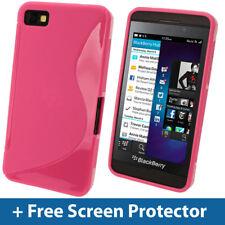Pink Dual Tone TPU Gel Case for BlackBerry Z10 Cover Skin Holder Shell Bumper