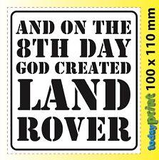 GOD CREATED - zB Defender, Landrover, Land Rover, Discovery Aufkleber, gedruckt