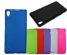Funda para SONY XPERIA Z5 Premium Gel-Tpu lisa negro azul rojo verde etc