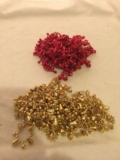 CHRISTMAS GARLANDS BEADS - GOLD RED TREE 9 Ft Each