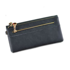 Girl Women Zipper Leather Clutch Wallet Long Card Holder Purse Handbag Bag Gift