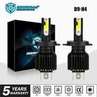 IRONWALLS 2pc H4 180W 21600LM LED Headlight Kit Conversion Bulb Hi-Lo Beam 6000K