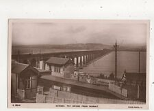 Dundee Tay Bridge From Wormit 1907 RP Postcard Railway Station 626b