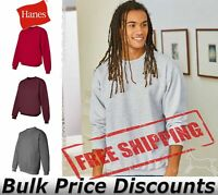 Hanes Mens Blank Ultimate Cotton Crewneck Sweatshirt F260 up to 3XL