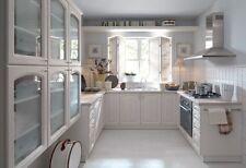 Klassische Einbauküche, Küchenzeile 300cm Lärche hell  MDF Fronten erweiterbar