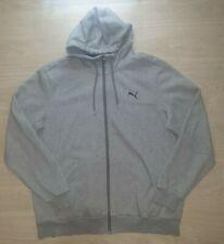 Puma Zip Up Mens Hoodie Grey Size XL Very Nice Condition Warm Comfy Cotton