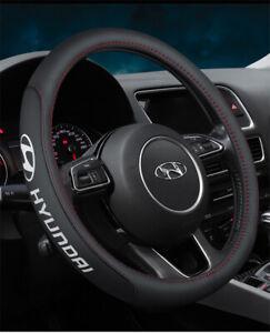 "15"" Car Steering Wheel Cover Genuine Leather For Hyundai Fashion"