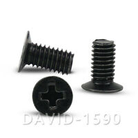 M3 Black Steel Phillips Cross Flat Thin Head Countersunk 120° Machine Screws