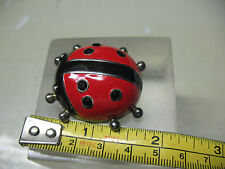Ladybug Brooch / Pendant Marked Best Approx. 1 & 1/2'' Vintage Original