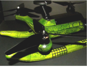 """USA 3DR Solo """"TRI-BLADE"""" with Built-in Nut Upgrade in """"Black"""" Performance Props"""