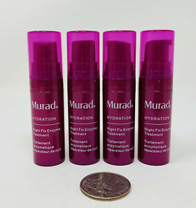 4x Murad Hydration Night Fix Enzyme Treatment .17oz/5ml ea Mini Travel NWOB