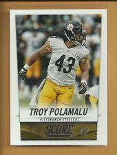 Troy Polamalu 2014 Panini Score Card # 176 Pittsburgh Steelers Football