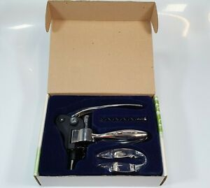 Corkscrew Wine Bottle Opener By Silver Spur Crome Satin -Used Mint Condition