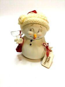 Snowpinions Dept 56 Champagne Taste Snowman Christmas Ornament