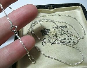 """Lovely Solid Sterling Silver Chain 24.25"""" Long 61 cm JEWELLERY NECKLACE 2.37g"""