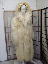 $1455 OFF! NEW SHOWROOM OFF WHITE GOAT COAT JACKET MEN MAN SIZE 42-44 LARGE