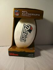 """Nfl Wilson Autograph Football Patriots """"The Duke"""" Unused Boxed official size"""