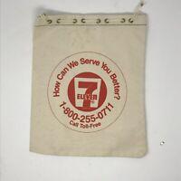 Vintage 7-11 Convenience Store Canvas Drawstring Bag Advertisement