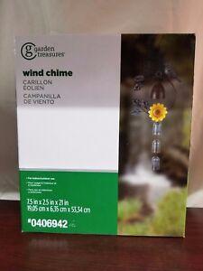 Garden Treasures 21-in Bird and Flower Metal Wind Chime