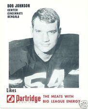 1969 Partridge Meats Bob Johnson Cincinnati Bengals nMT