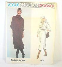 Vogue American Designer Carol Horn Dress Pattern 2074 Uncut Vintage