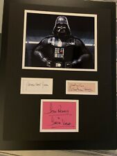 Darth Vader Multi Signed Matted 18x14 Star Wars Beckett BAS Jones Prowse Shaw