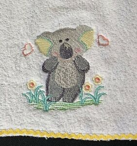 Babies Embroidered Towelling Bibs Collection of *AUS-KOALA* Designs sew-ezy-aust
