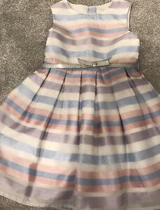 Jasper Conran Girls Party Dress 3-4 Years Stripe