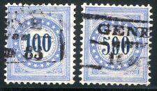 Suiza porto 1882 13-14 con sello fasrepapier 670 € (z2244