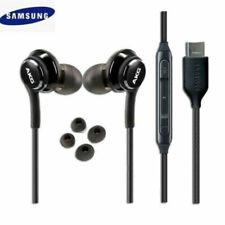 NEW OEM Samsung AKG Note 10 10+ USB-C Black Headphones Earphones Earbuds w/tips
