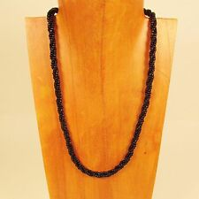 10PC WHOLESALE LOT 18 inch Black Handmade Beaded Rope Chain Necklaces