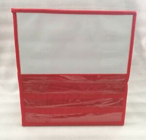 TABLETOP DESKTOP COLLAPSIBLE POCKET CHART / DRY ERASE AND CLEAR PLASTIC POCKETS