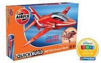 AIRFIX® QUICK-BUILD RED ARROWS HAWK MODEL AIRCRAFT KIT RAF FIGHTER JET KIT J6018