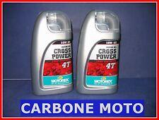 2 LITRI OLIO MOTOREX CROSS POWER 10W60 4T 100% SINTETICO CONSIGLIATO KTM