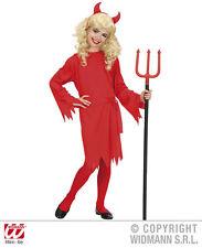 Costume Diavolo Bambina Vestito Diavolessa Halloween WIDMANN 8-10 anni