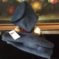 NWT EILEEN FISHER Lofty Recycled Cashmere Hat and Glovelettes SET one size FIR