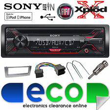 FIAT GRANDE PUNTO 2005-15 Sony CD MP3 USB Aux Radio Stereo Auto & Grigio Kit Fascia