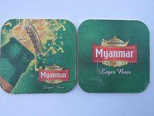 Beer Collectible Brewery Coaster ~ MYANMAR Lager Beer ~ Yangon, Myanmar (BURMA)