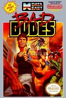 Bad Dudes Nintendo Nes Cleaned & Tested Cart Only Authentic