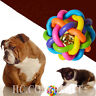 Colorful Woven Happy Pet Nobbly Wobbly Tough Toy Rubber Floating Cat Dog Ball