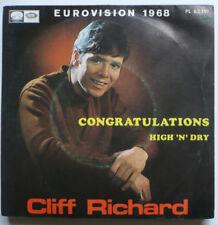 """CLIFF RICHARD - Congratulations - span. 7""""-Single > ESC 1968"""