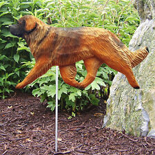 Leonberger Outdoor Garden Dog Sign Hand Painted Figure