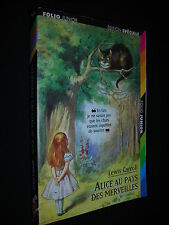 Alice au pays des Merveilles (in Wonderland) in FRENCH Lewis Carroll PB Folio Jr