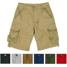 Men's Multi Pocket Cotton Cargo Shorts Short Pants