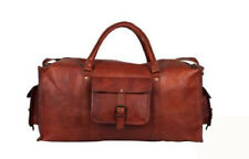 Leather Travel Bags Duffle Luggage Holdall Handbags Overnight Sports Gym 23 In