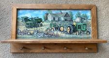 John Deere tractor combined wall shelf coat rack