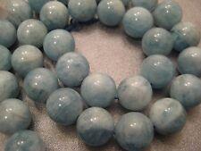 Chinese Aquamarine Round 12mm Beads 33pcs