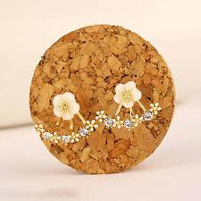 Women Cute Elegant Crystal Rhinestone Ear Stud Earrings Fashion Jewelry 1Pair
