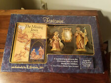 Fontanini Roman, Inc Heirloom Nativity & Book The Missing Jesus 1991 Italy (New)