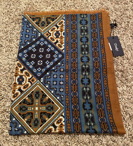 NEW Drake's Mens Antique Kaleidoscope Wool Silk Blend Scarf Made in Italy NWT